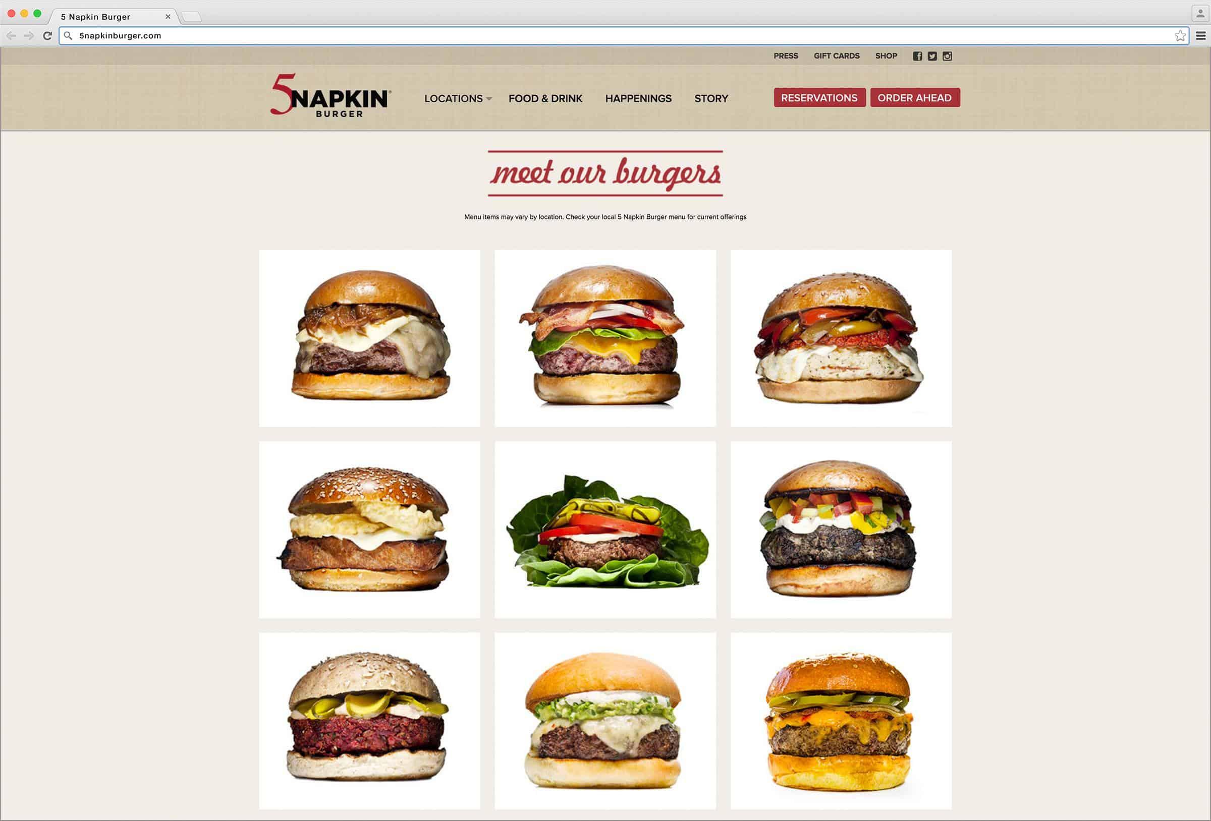 Napkin Burger Hell S Kitchen Menu