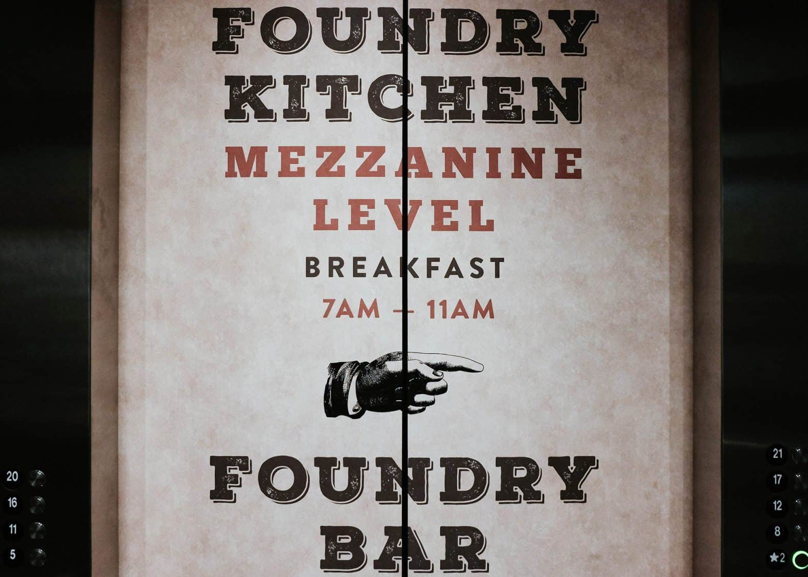 FOUNDRY KITCHEN & BAR - THE WESTIN NEW YORK